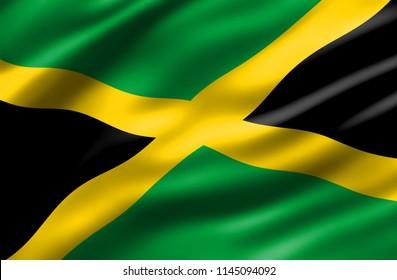 Jamaican Flag Waving Wind Images Stock Photos Vectors Shutterstock