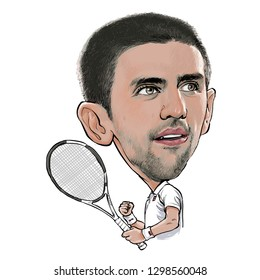 Novak Djokovic Stock Illustrations Images Vectors Shutterstock