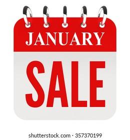 January Sale on calendar page
