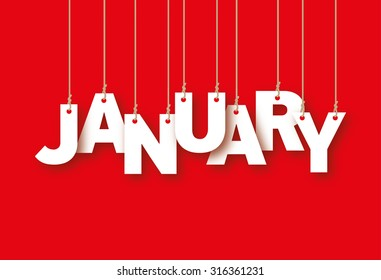 January word hanging on the ropes