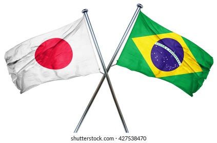 Japan flag  combined with brazil flag