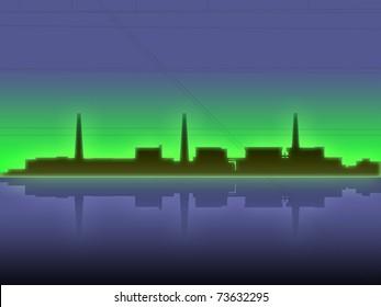 japan fukushima nuclear disaster ilustration