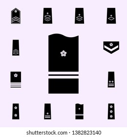 japan lieutenant colonel icon. military ranks & insignia of Japan icons universal set for web and mobile