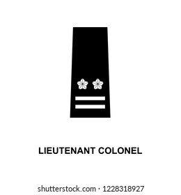 japan lieutenant colonel military ranks and insignia glyph icon