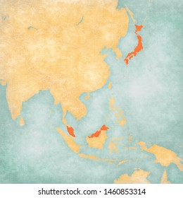 Map Of Southeast Asia Japan And Malaysia.Old Map Malaysia Images Stock Photos Vectors Shutterstock