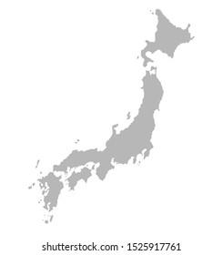 Japan map on white background,illustration,textured , Symbols of Japan - illustration