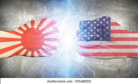 Japan WWII vs USA  3D Render