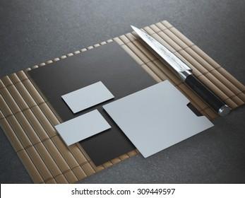 Japanese branding mockup