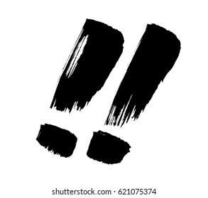 !! japanese calligraphy exclamation mark