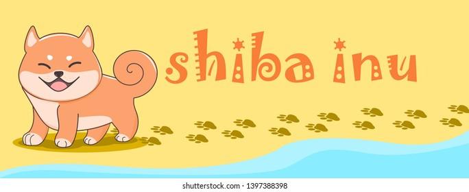 japanese dog shiba inu cartoon