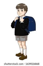A Japanese elementary school boy