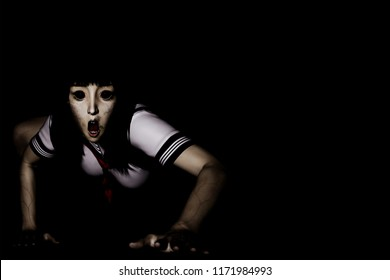 Japanese Girl Ghost 3D render Japanese Ghost girl, Japanese Ghost Student, Japanese Ghost woman,