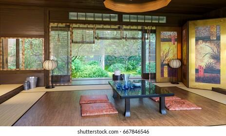 Japanese interior. Modern japan interior design