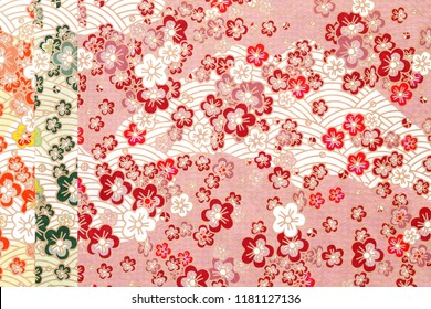 Japanese pattern origami paper, texture background