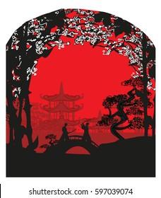 Japanese Samurai fighters card