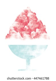 Japanese shaved ice illustration