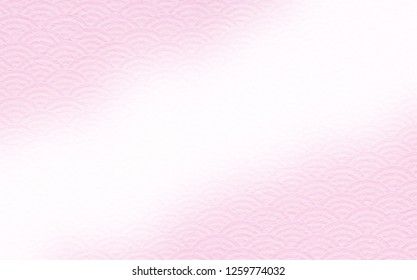 Japanese style pattern and Japanese paper background (pink gradation)