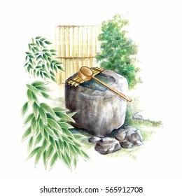 Japanese washbasin.