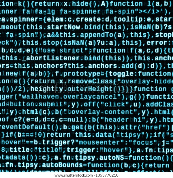 Javascript Code Text Editor Coding Cyberspace Stock
