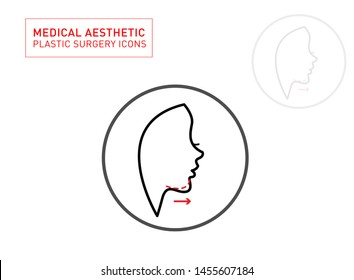 jaw filler and Medical Aesthetic Line icon