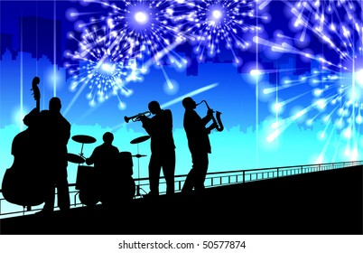 Jazz Band and Fireworks