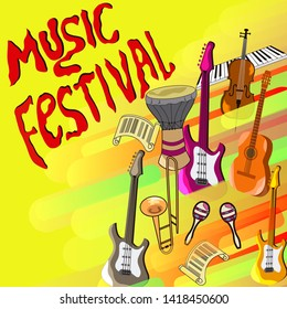 Jazz festival poster template. Banner for misical party.