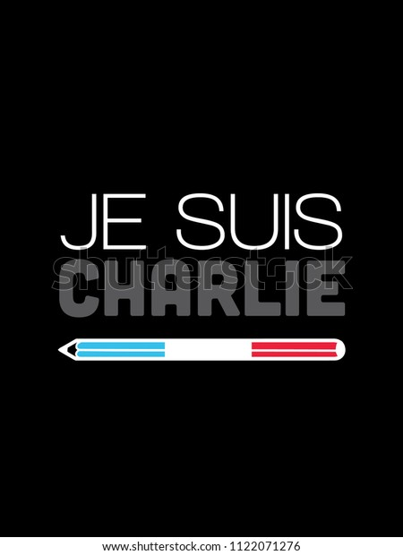 Je Suis Charlie Hebdo Peace Protest Stock Illustration 1122071276
