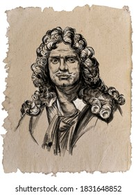 Jean Batiste Moliere - 17th century French comedian, creator of classic comedy, actor and theater director by profession