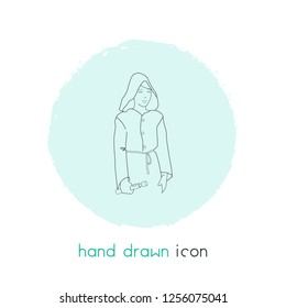 Jedi icon line element.  illustration of jedi icon line isolated on clean background for your web mobile app logo design.