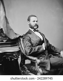 Jefferson Franklin Long (1836 - 1901), born a slave who educated himself and became a tailor in Macon, Georgia. Served in House of Representatives during as a replacement for only two months in 1871.