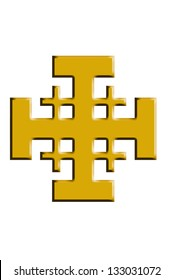 Jerusalem cross.