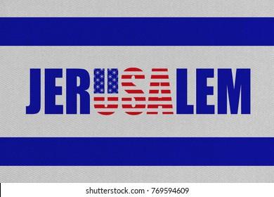 JERUSALEM, ISRAEL, 14 May 2018 - US embassy opens in Jerusalem, new capital of Israel.