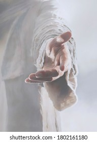 Jesus Christ hand reaching out.
