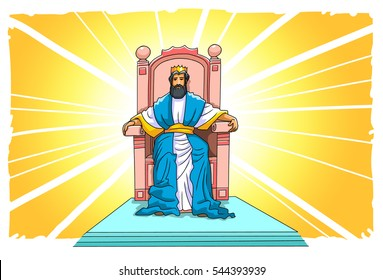 Christ the king images stock photos vectors shutterstock jesus sits on his throne in heaven altavistaventures Gallery