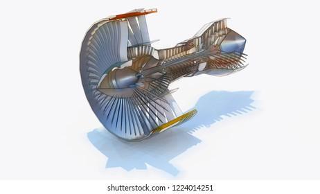 Aircraft Engine Drawing Images, Stock Photos & Vectors