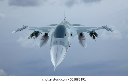 jet F-16 fly in the sky , american military fighter plane.  USA army.