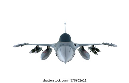 jet F-16 isolate on white background.  military fighter plane