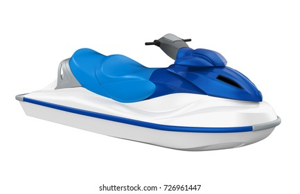 Jet Ski Isolated. 3D rendering