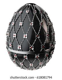 Jewelry egg. 3D render.