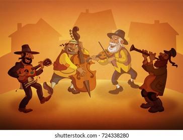 Jewish klezmer musicians