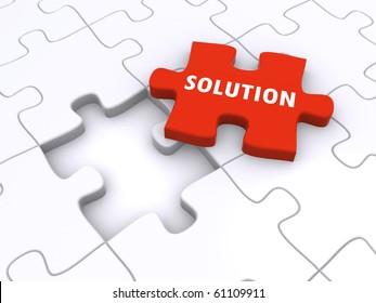 jigsaw puzzle concept