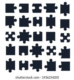 jigsaw puzzle piece template isolated. Jigsaw piece puzzle object illustration