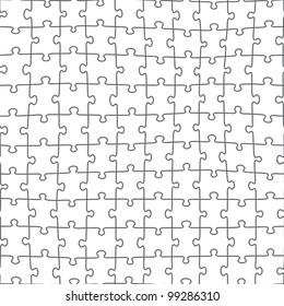 Jigsaw Puzzle Seamless Pattern Rasterized Version