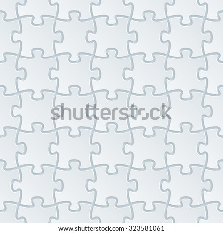 Jigsaw Puzzle White Perforated Paper With Cut Out Effect Abstract 3d Seamless Background