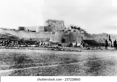 Jimrud Fort in the Khyber Pass the strategic trail joining the Pakistani frontier with the Afghanistan's Hindu Kush mountains ca 1930s.