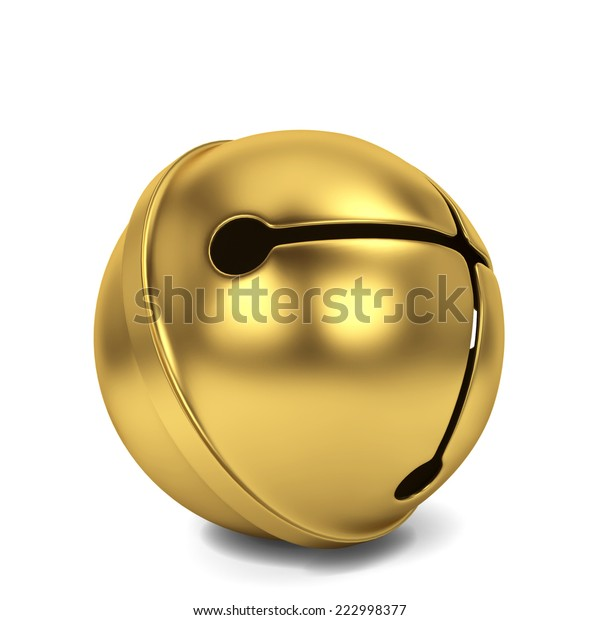 Jingle bell. 3d illustration isolated on white background