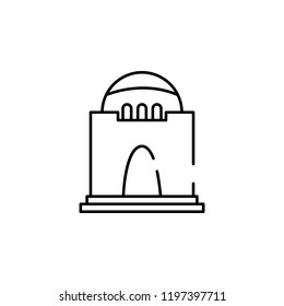jinnah mausoleum icon. Element of Pakistan culture for mobile concept and web apps illustration. Thin line icon for website design and development, app development