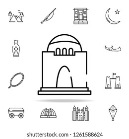 jinnah mausoleum icon. pakistan culture and landmarks icons universal set for web and mobile