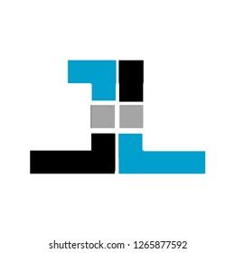 Jl letter or ll letter dEsign logo