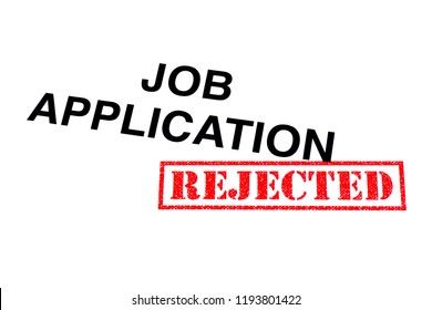 Job Application heading stamped with a red REJECTED rubber stamp.